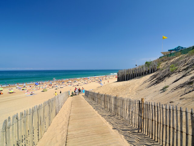 plage de Labenne océan en été